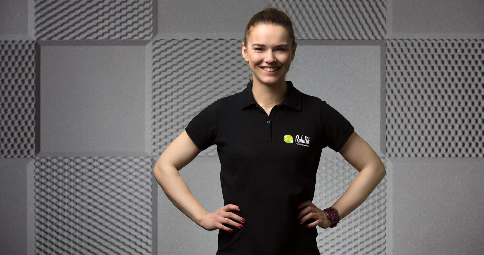 Trener przygotowania motorycznego, trener personalny i licencjonowany fizjoterapeuta, Marzena Dernowska z RehaFit Wrocław.