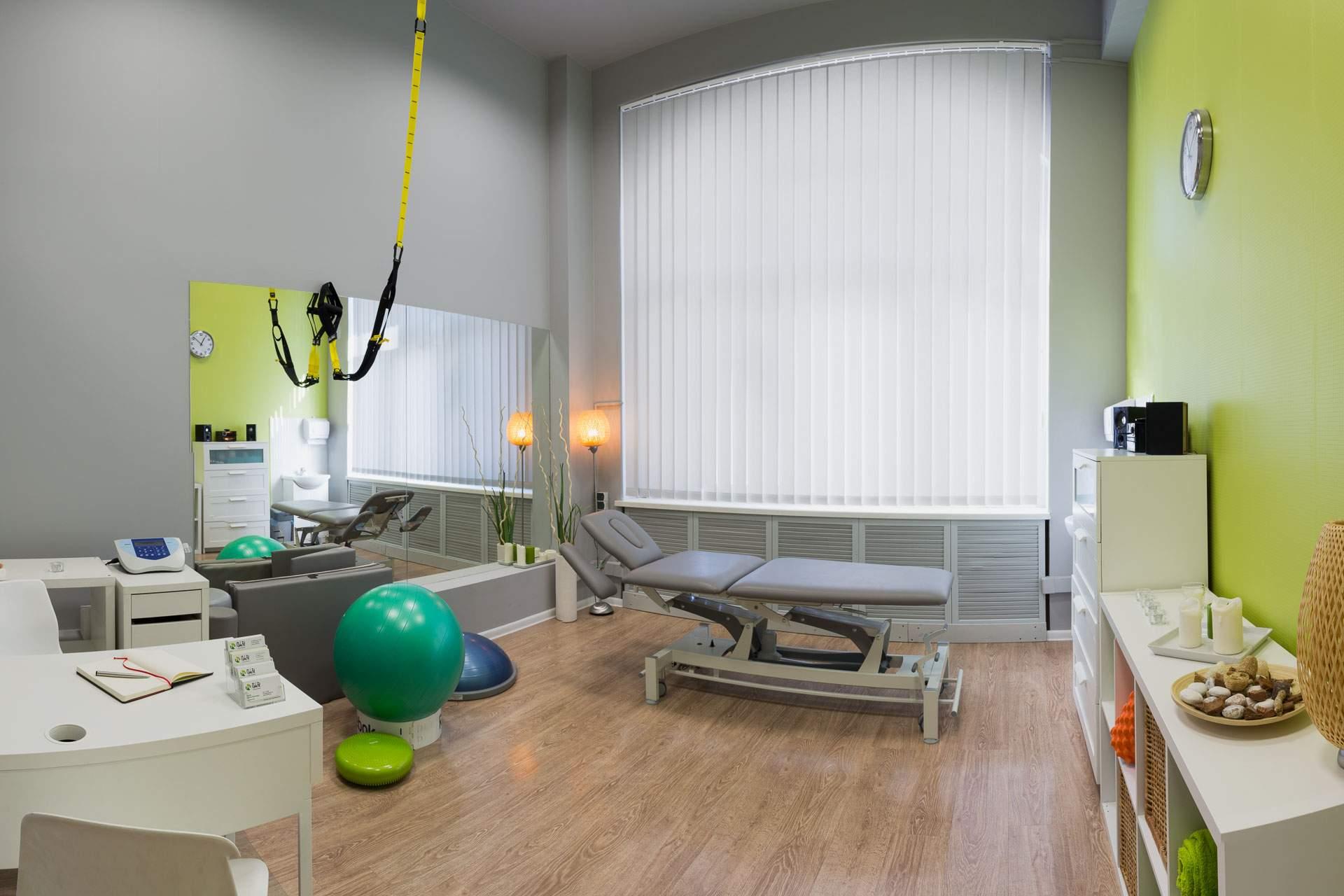 przestronne i komfortowe gabinety rehabilitacji i masażu RehaFit