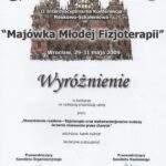 Wyróżnienie dla fizjoterapeuty Kamili Kuźniar-Kosowskiej z RehaFit.