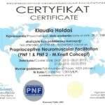 dyplom rehabilitacji metodą PNF, fizjoterapeuta Klaudia Hołdaś, RehaFit Wrocław
