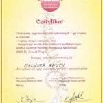 certyfikat ukończenia kursu spiralnej stabilizacji mięśniowej, Malwina Knuth, RehaFit
