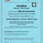 dyplom terapia manualna moduł AWS1, fizjoterapeuta Marcin Kosowski, RehaFit Wrocław