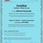 dyplom terapia manualna moduł MT-REHA, fizjoterapeuta Marcin Kosowski, RehaFit Wrocław