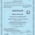 dyplom terapia manualna moduł UEX, fizjoterapeuta Marcin Kosowski, RehaFit Wrocław