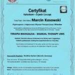 dyplom terapia manualna moduł UWS, fizjoterapeuta Marcin Kosowski, RehaFit Wrocław