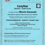 dyplom terapia manualna moduł AEX1, fizjoterapeuta Marcin Kosowski, RehaFit Wrocław