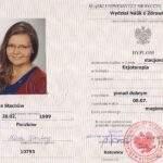 dyplom magistra, fizjoterapeuta Maria Stachów, RehaFit Wrocław
