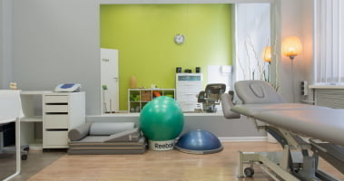 Gabinet rehabilitacji i masażu centrum RehaFit we Wrocławiu.