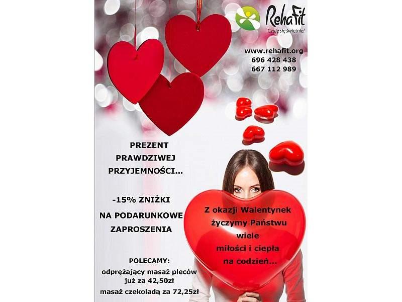 Walentynkowa promocja na bony na masaż w RehaFit