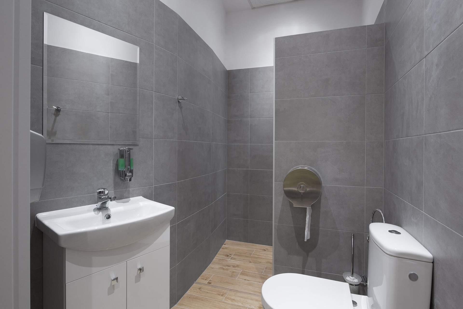 Wysoki standard łazienek w centrum rehabilitacji, masażu i treningu personalengo RehaFit.