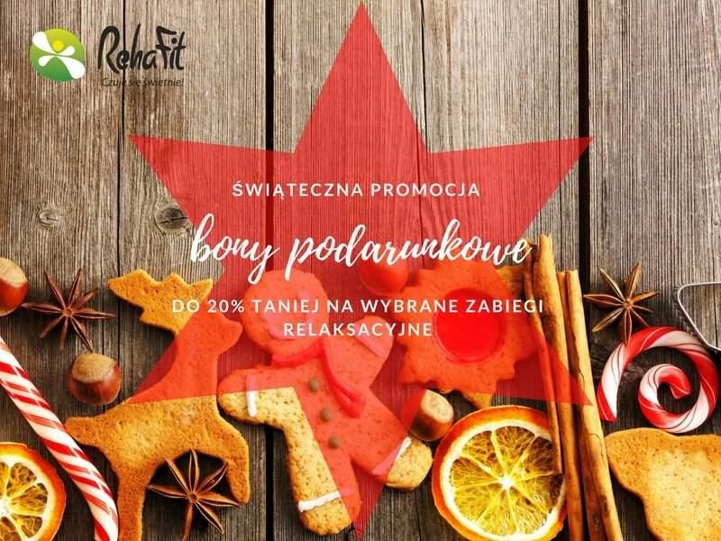 świąteczna promocja na bony podarunkowe na masaż i trening personalny