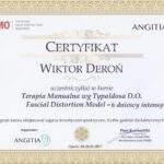 dyplom terapii powięziowej FDM Wiktor Deroń RehaFit