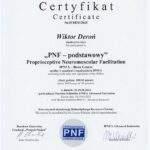 dyplom rehabilitacji metodą PNF Wiktor Deroń RehaFit Wrocław.