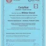 dyplom terapia manualna Wiktor Deroń 4