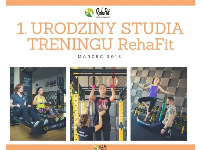 Pierwsze urodziny wrocławskiego centrum treningu personalnego RehaFit. Wyjątkowa promocja i interesujący konkurs.