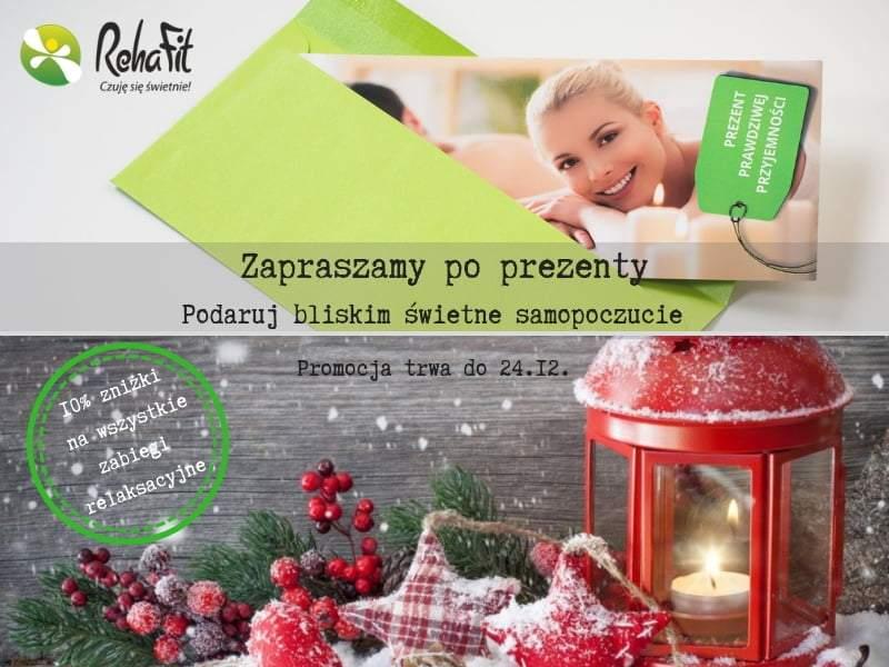 Promocja na bony i vouchery na zabiegi relaksacyjne i masaże w RehaFit we Wrocławiu.