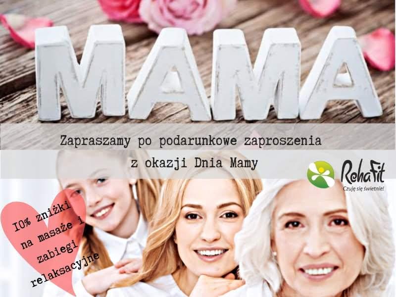 wyjątkowe bony podarunkow na zabiegu relaksacyjne i masażu z okazji Dnia Mamy. .