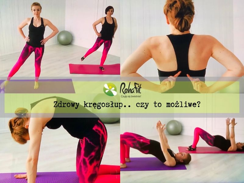 Fizjoterapeutki pokazują ćwiczenia na zdrowy kręgosłup.