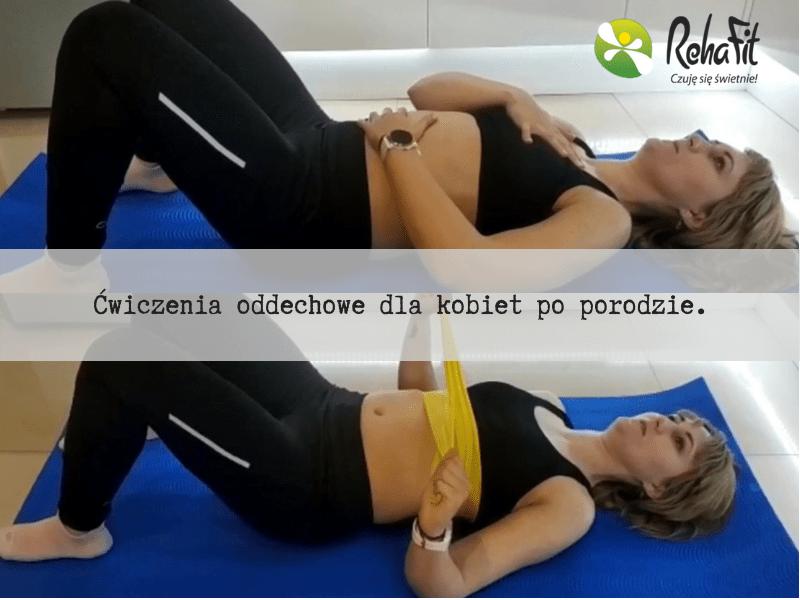 fizjoterapeutka podczas instruktażu ćwiczeń oddechowych