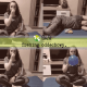 Fizjoterapeutka prezentuje przykładowy trening oddechowy