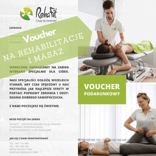 Bon podarunkowy na rehabilitację, voucher na masaż to doskonały pomysł na prezent dla każdego.