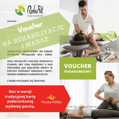 bon podarunkowy na rehabilitację i masaż