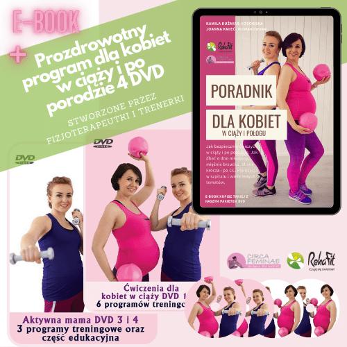 e-book poradnik dla kobiet w ciąży i połogu + DVD ćwiczenia dla kobiet w ciąży i po porodzie
