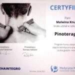 Certyfikat Pinoterapia - Malwina Knuth - Rehafit.org