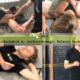 Fizjoterapeuta podczas instruktażu ćwiczeń i postępowania w przypadku uszkodzenia mięśnia podłopatkowego